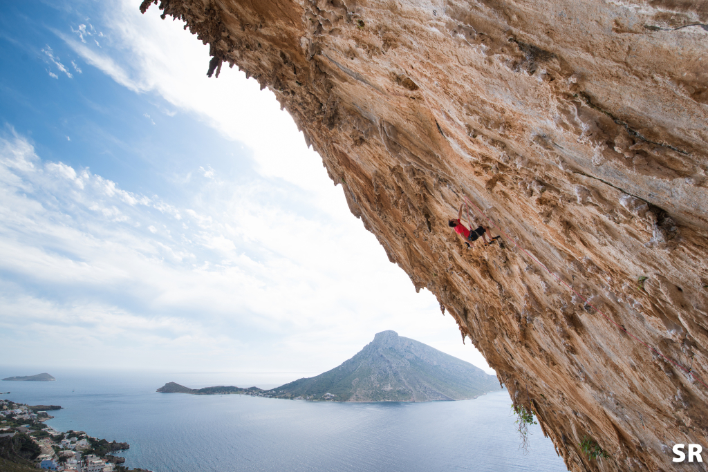 Gaz Parry Climbing in Kalymnos