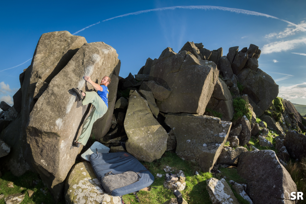 Rock climbing in the Preseli hills, Pembroke