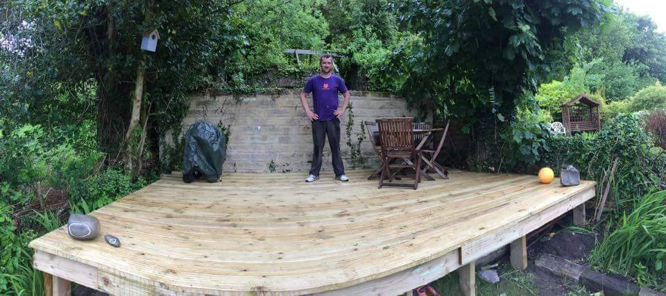 Decking finally in place