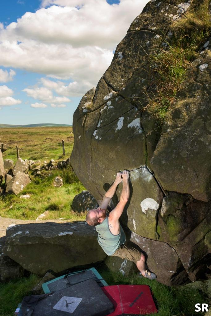 Bouldering at Mynydd Dinas