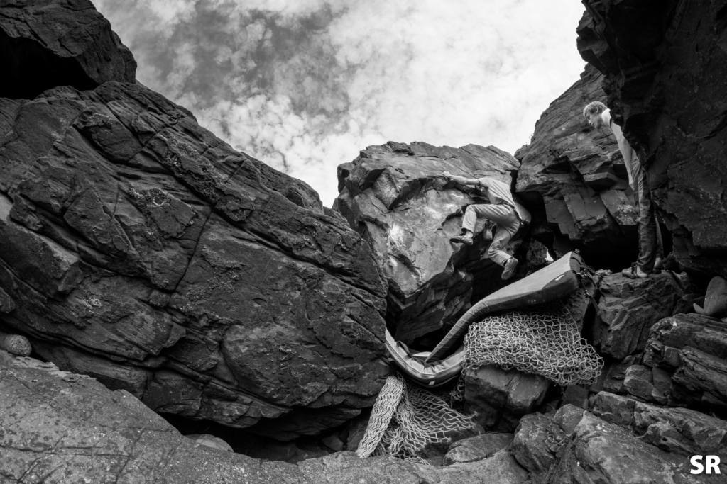 Newgale bouldering