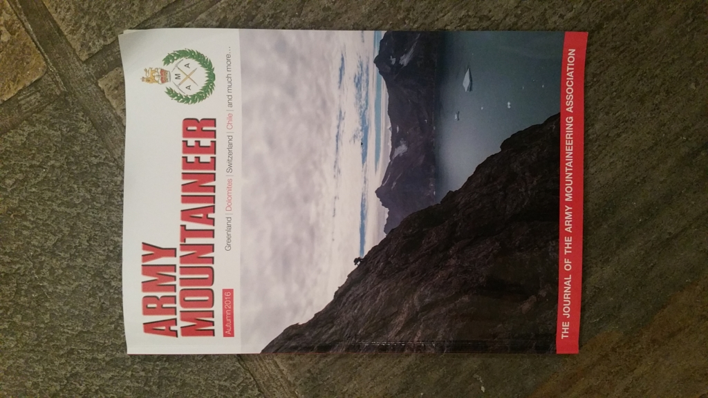I had an article published in Army Mountaineer
